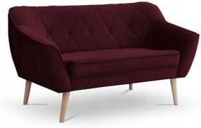 SD DEANA II kárpitozott kanapé - bordó