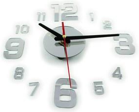 KIK Fali belső óra nagy számban, öntapadós, ezüst, KX9713_1