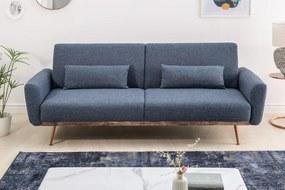 Nyitható ülőgarnitúra Blaine 208 cm kék
