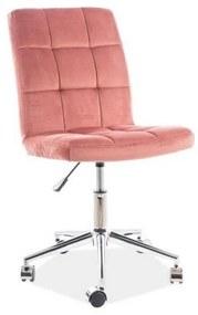 KEDE Q-020 VELVET gyerek szék, 45x87-97x40, bluvel 52, rózsaszín
