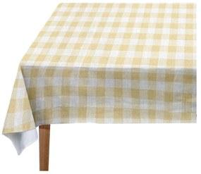 Yellow Vichy asztalterítő, 140 x 140 cm - Linen Couture