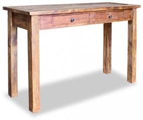 Tömör újrahasznosított fa tálalóasztal 123 x 42 x 75 cm