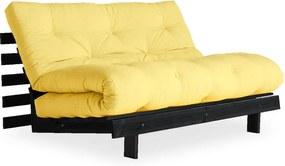 Roots Black/Yellow halványsárga kinyitható kanapé - Karup Design