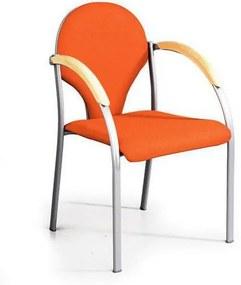 Neo Silver konferenciaszék, narancssárga