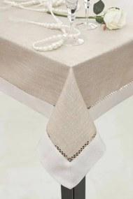 Emma azsúrozott asztalterítő Bézs 85 x 85 cm - HS11809