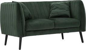 COALITION zöld és fekete bársony kanapé