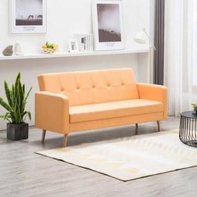 Narancssárga szövet kanapé