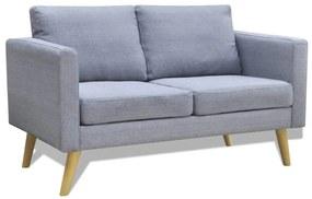 vidaXL világosszürke 2 személyes szövet kanapé