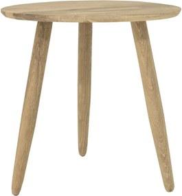 Uno tölgyfa tárolóasztal, ø 40 cm - Canett