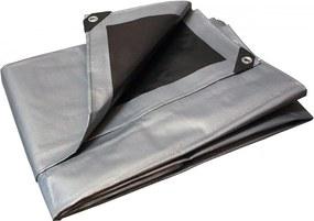 Takaró ponyva szürke - fekete 2x3 m 260 g/m2