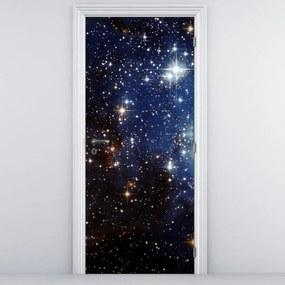 Fotótapéta ajtóra - Csillagos égbolt (95x205cm)