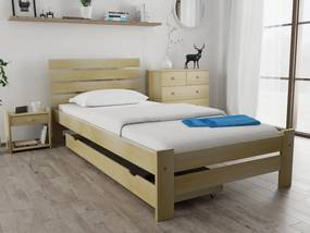 Magnat PARIS magasított ágy 80x200 cm, fenyőfa Ágyrács: Ágyrács nélkül, Matrac: Somnia 17 cm matraccal