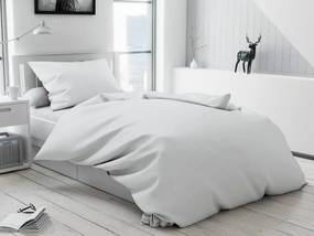 Lux fehér Bújtatós pamut ágyneműhuzat Ágynemű mérete: 70x90 cm; 140x220 cm