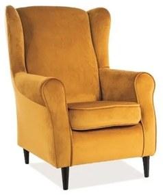 MAJOR Velvet fotel, 78x101x80, bluvel 68