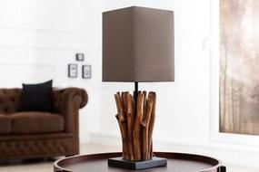 EUPHORIA szürkésbarna hordalékfa asztali lámpa