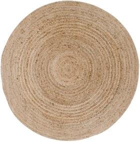 Bombay világosbarna kerek szőnyeg, ø 90 cm - House Nordic