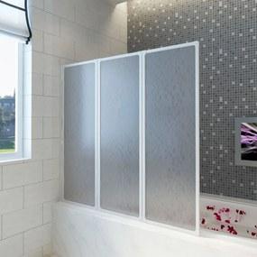 Zuhanyfal kádparaván 141 x 132 cm 3 panel összehajtható