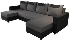 COOPER U ágyazható sarok ülőgarnitúra, 298x144, sawana 05/sawana 14