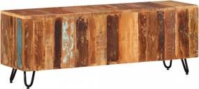 Tömör újrahasznosított fa tv-szekrény 110 x 30 x 40 cm