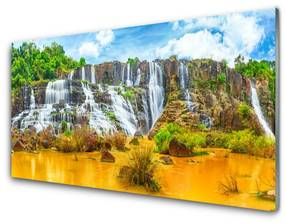 Akrilkép Waterfall Fák Természet 140x70 cm