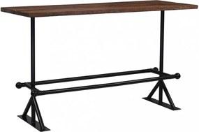 Sötétbarna újrahasznosított fa bárasztal 180 x 70 x 107 cm