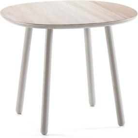 Naïve szürke tömörfa étkezőasztal, ø 90 cm - EMKO