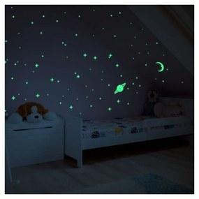 Moon and Planets sötétben világító falmatrica - Ambiance
