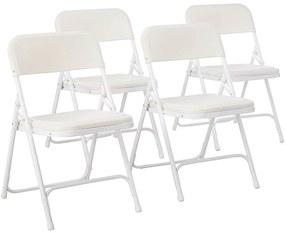 Párnázott, összecsukható szék 4 db-os, fehér színben