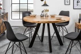 IRON CRAFT mangó kerek étkezőasztal 120cm