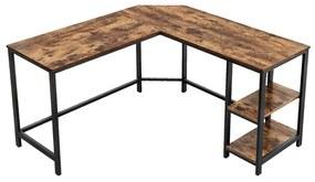 L-alakú számítógépasztal 138 x 138 x 76