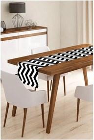 Black Stripes mikroszálas asztali futó, 45 x 145 cm - Minimalist Cushion Covers