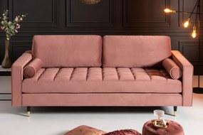 COZY VELVET design bársony kanapé - 225cm - mályva