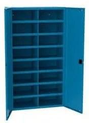 Fém műhelyszekrény osztórészekkel SFR162, 180 x 100 x 53 cm, kék