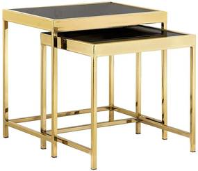 Vitor K46,5_48 Dohányzóasztal szett - arany-fekete