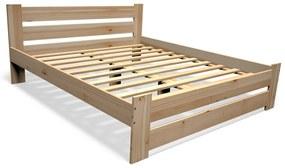 STUDY tömörfa ágy + ágyrács INGYEN, 180x200cm, natúr