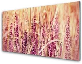 Fali üvegkép Búza növény természet 125x50 cm