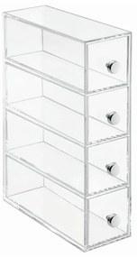 Wers átlátszó tárolódoboz, 4 fiókkal - iDesign