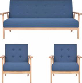 3 részes kék szövet ülőgarnitúra
