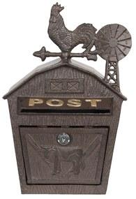 Fém postaláda kakasos