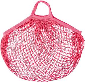 Retró bevásárlótáska pink színben