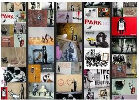 Banksy tapétatekercs, 0,5 x 10 m - Bimago