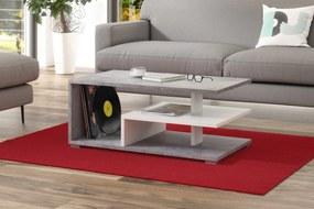 LINK beton (szürke) / fehér, dohányzóasztal