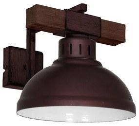 Luminex Fali lámpa HAKON 1xE27/60W/230V sötét LU9051