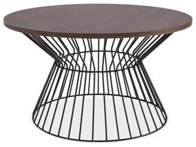LATA dohányzóasztal, 82x56x82, sötét dió/fehér