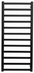 Weberg LUGO Design Törölközőszárítós Radiátor 150x50 cm (Fekete)