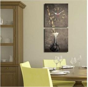 Composition dekoratív falióra, 60 x 28 cm