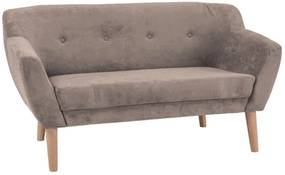 BJORG 2 kárpitozott kanapé, 76x139x54, bézs
