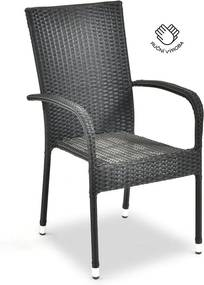 Paris fekete kerti szék, magasság 95 cm - Le Bonom