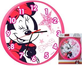 Disney Minnie egér falióra pink