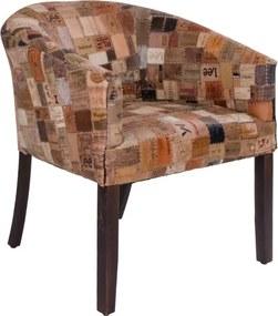 Stílusos fotel Kara bőr / mangó